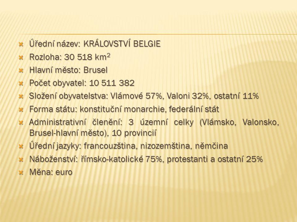 Úřední název: KRÁLOVSTVÍ BELGIE