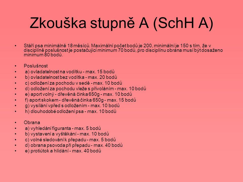 Zkouška stupně A (SchH A)