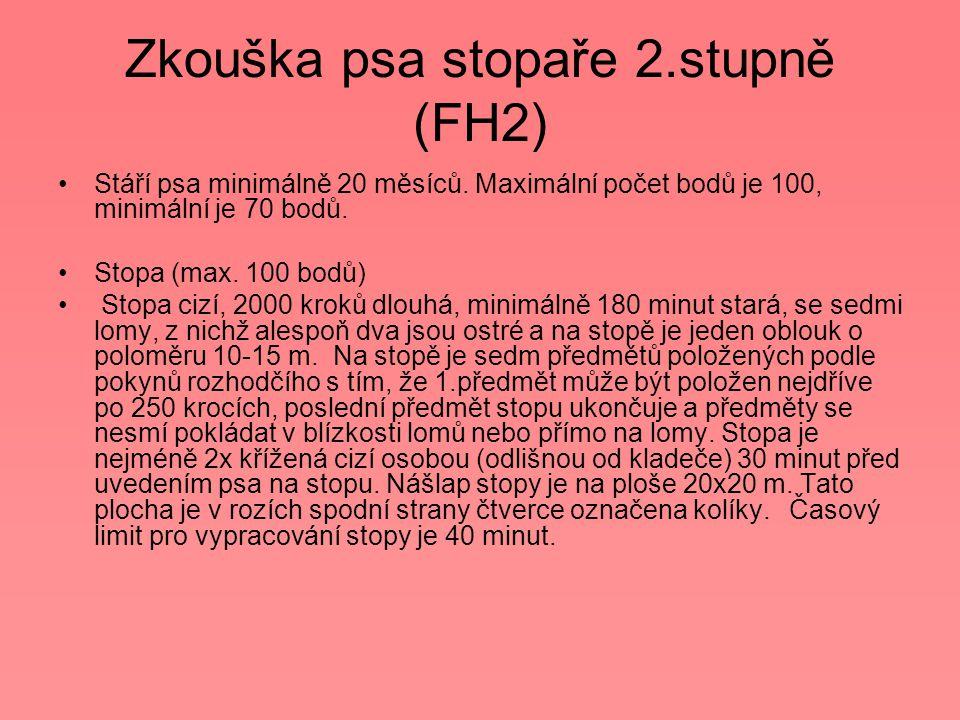 Zkouška psa stopaře 2.stupně (FH2)