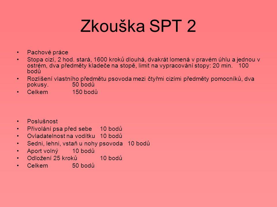 Zkouška SPT 2 Pachové práce