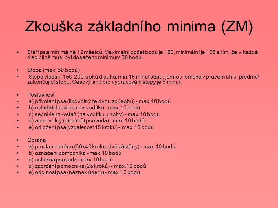 Zkouška základního minima (ZM)