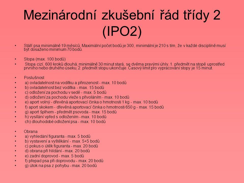 Mezinárodní zkušební řád třídy 2 (IPO2)