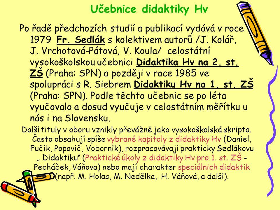 Učebnice didaktiky Hv