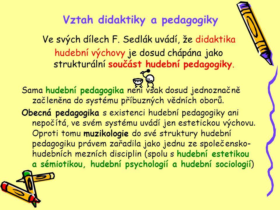 Vztah didaktiky a pedagogiky