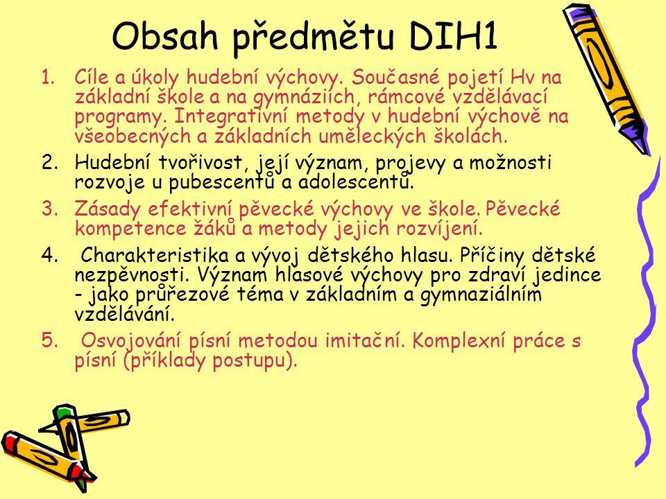 Obsah předmětu DIH1
