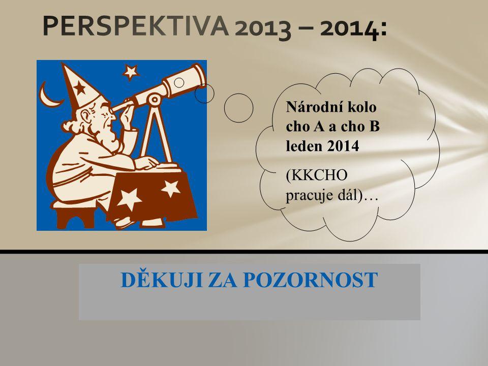 PERSPEKTIVA 2013 – 2014: DĚKUJI ZA POZORNOST