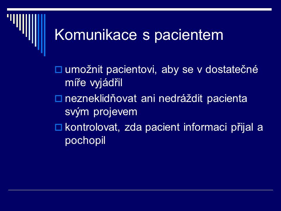 Komunikace s pacientem