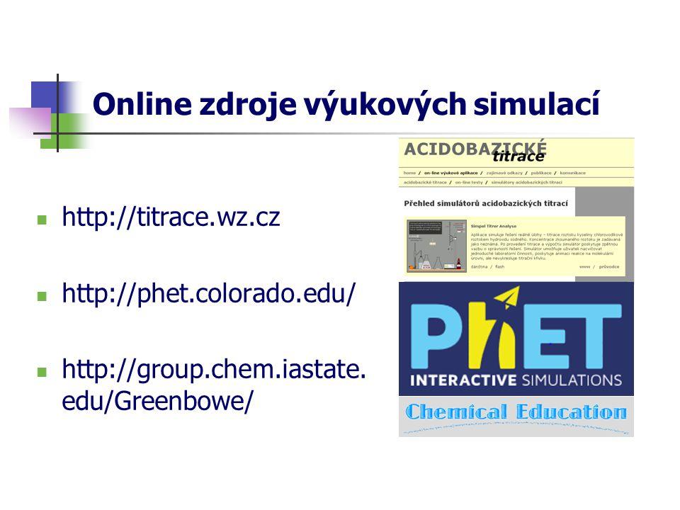 Online zdroje výukových simulací