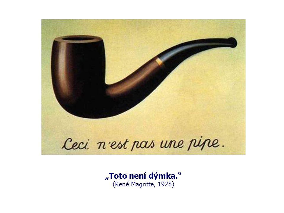 """""""Toto není dýmka. (René Magritte, 1928)"""
