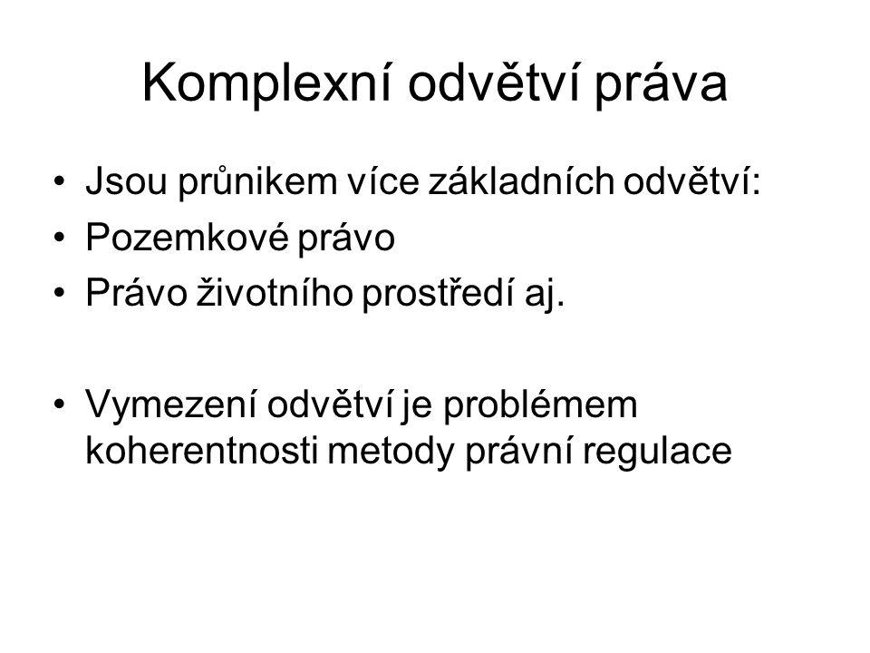 Komplexní odvětví práva