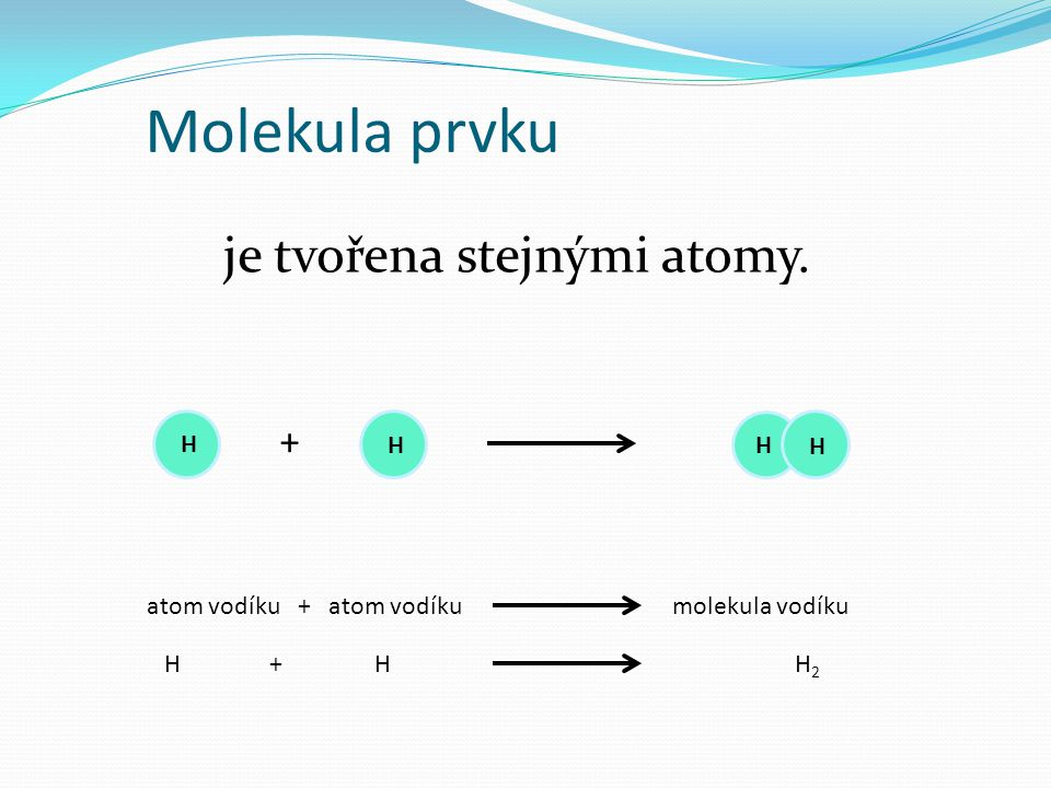 je tvořena stejnými atomy.