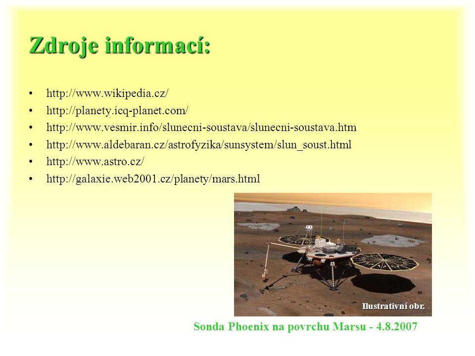 Zdroje informací: http://www.wikipedia.cz/