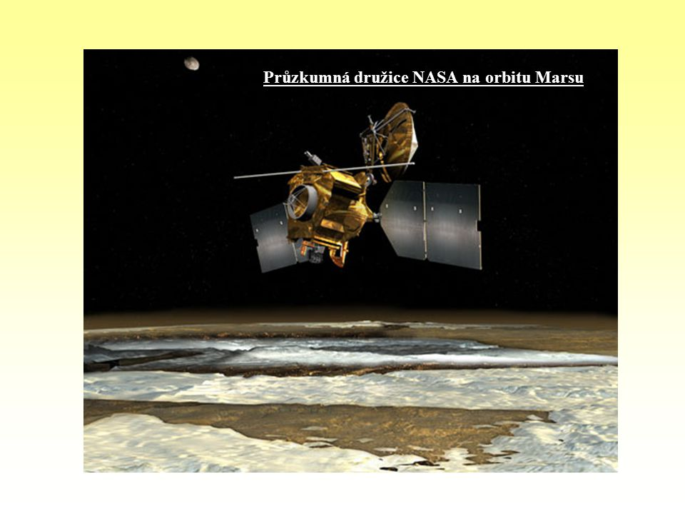 Průzkumná družice NASA na orbitu Marsu
