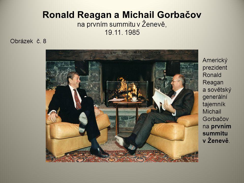 Ronald Reagan a Michail Gorbačov na prvním summitu v Ženevě, 19. 11