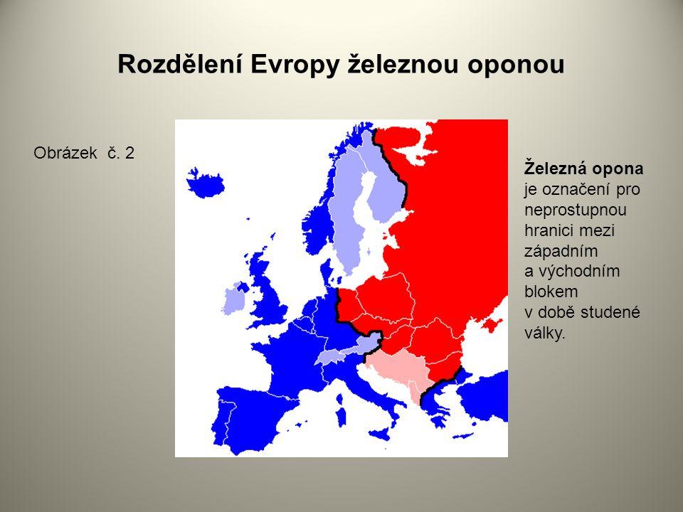 Rozdělení Evropy železnou oponou