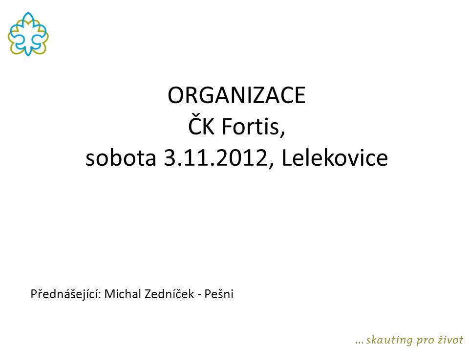 ORGANIZACE ČK Fortis, sobota 3.11.2012, Lelekovice