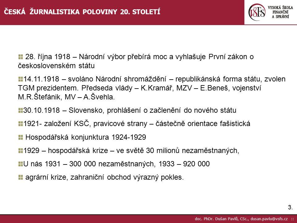 30.10.1918 – Slovensko, prohlášení o začlenění do nového státu