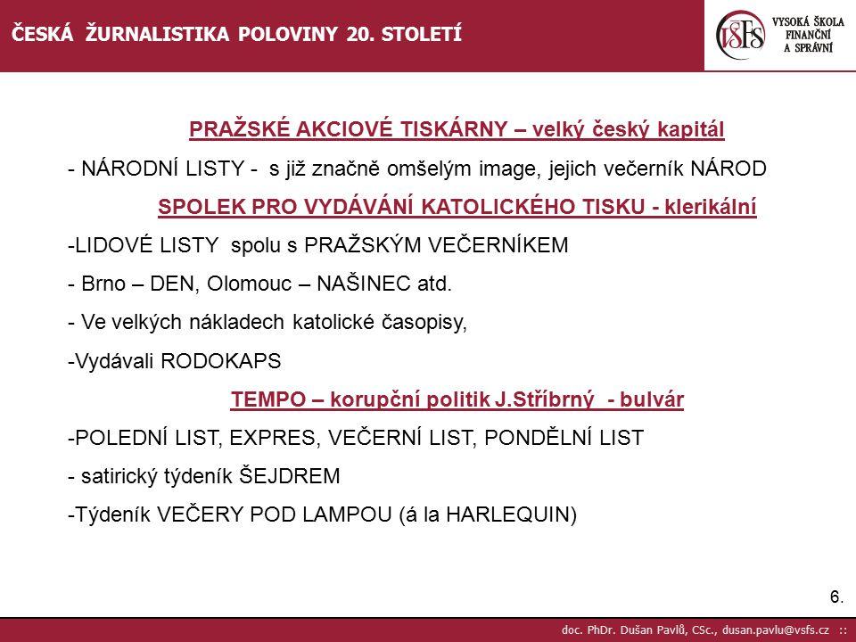 PRAŽSKÉ AKCIOVÉ TISKÁRNY – velký český kapitál