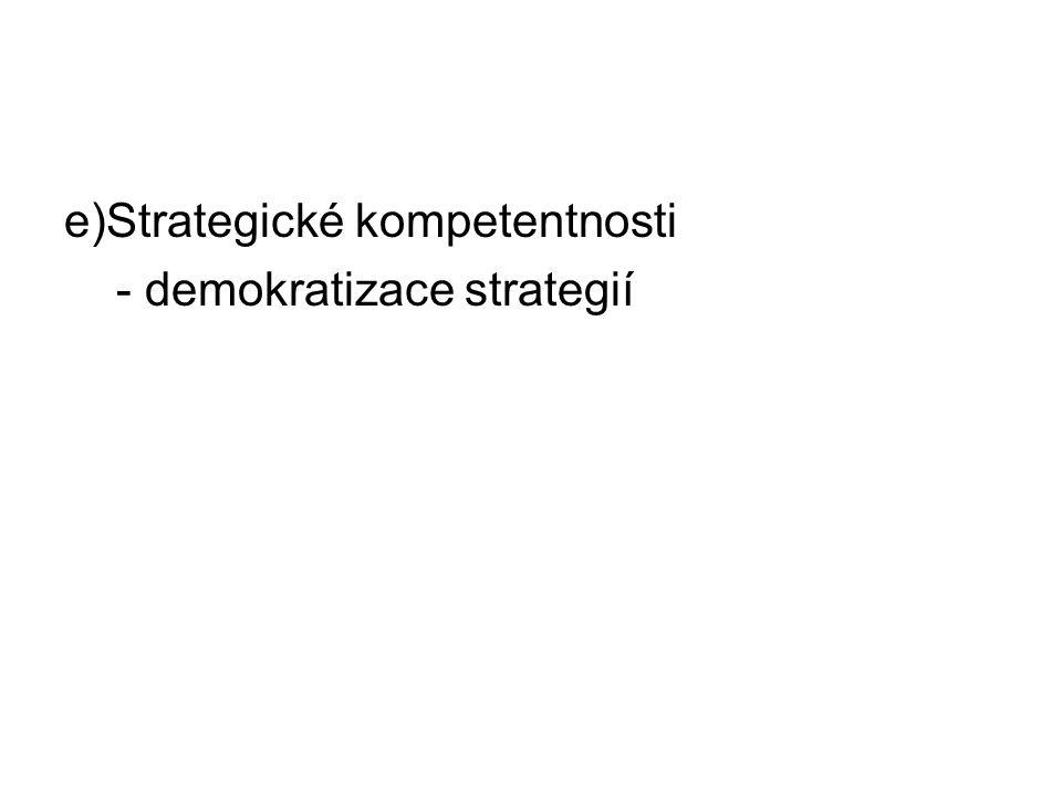 e)Strategické kompetentnosti