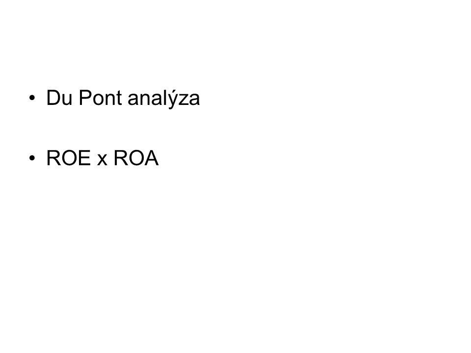 Du Pont analýza ROE x ROA