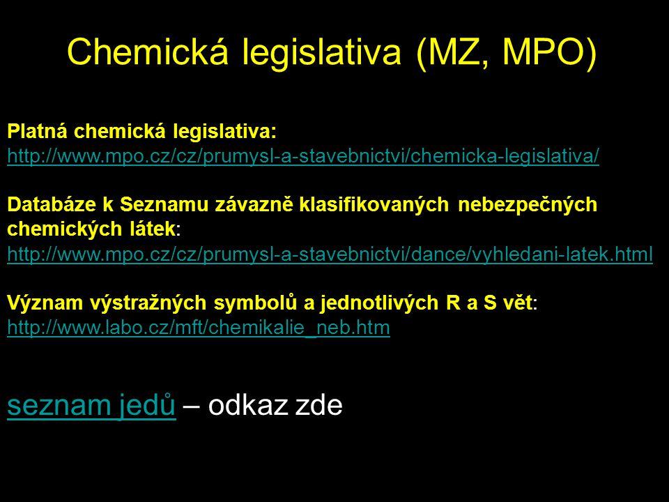 Chemická legislativa (MZ, MPO)