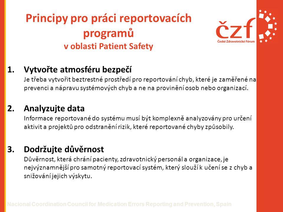 Principy pro práci reportovacích programů v oblasti Patient Safety