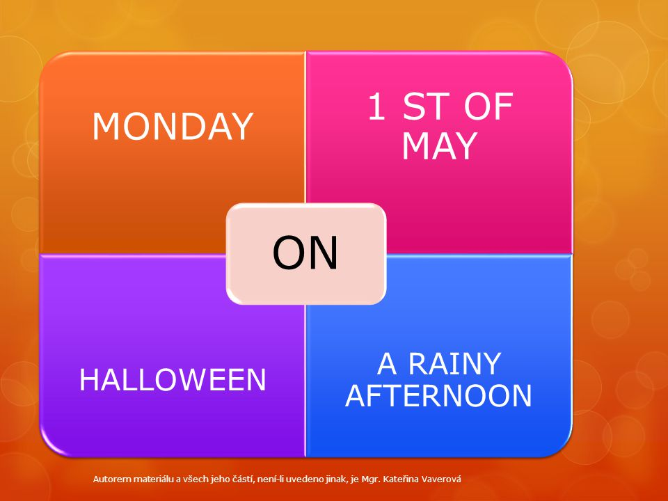ON 1 ST OF MAY MONDAY A RAINY AFTERNOON HALLOWEEN