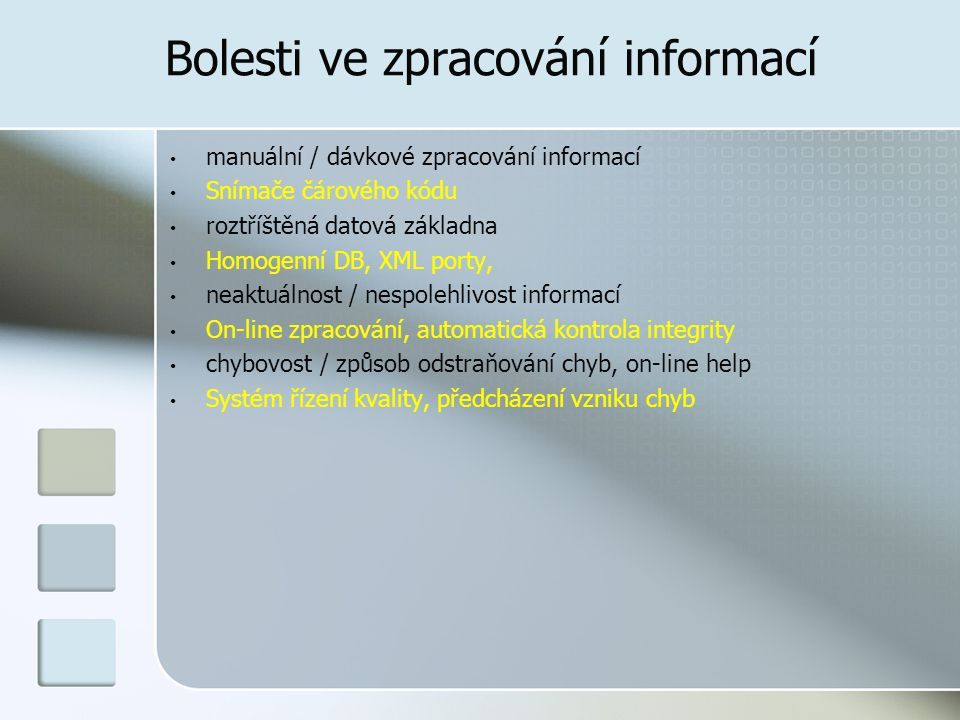 Bolesti ve zpracování informací