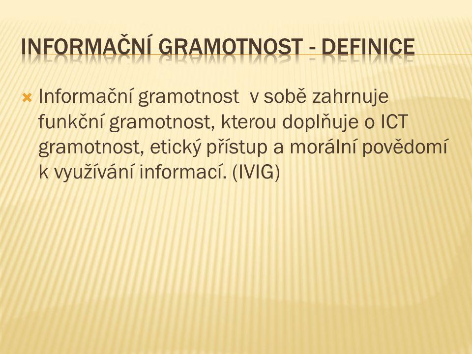 Informační gramotnost - definice