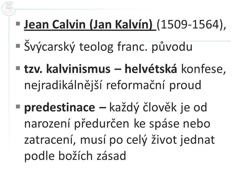 Jean Calvin (Jan Kalvín) (1509-1564),