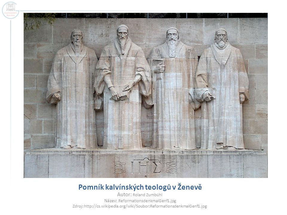 Pomník kalvínských teologů v Ženevě