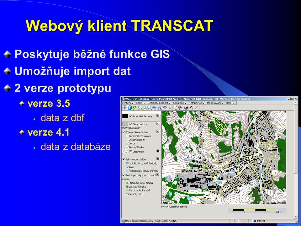 Webový klient TRANSCAT