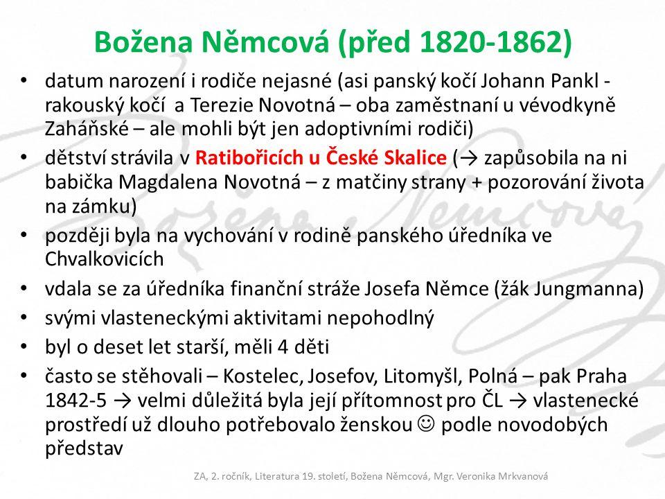 Božena Němcová (před 1820-1862)