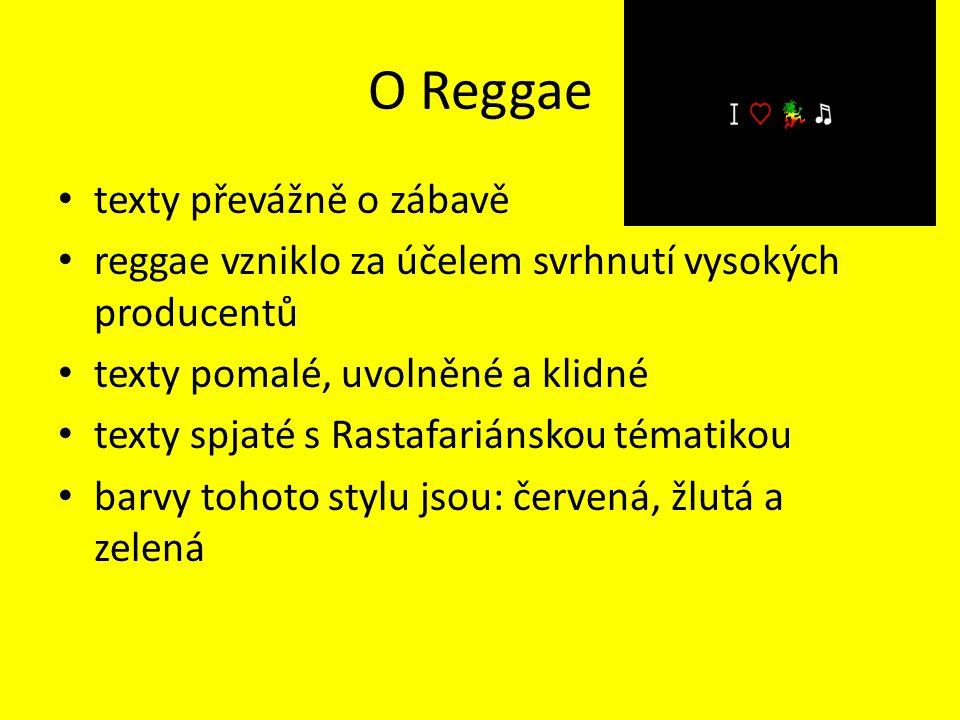 O Reggae texty převážně o zábavě