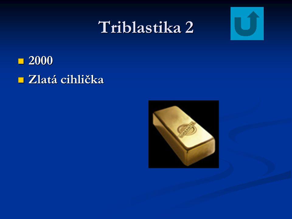 Triblastika 2 2000 Zlatá cihlička