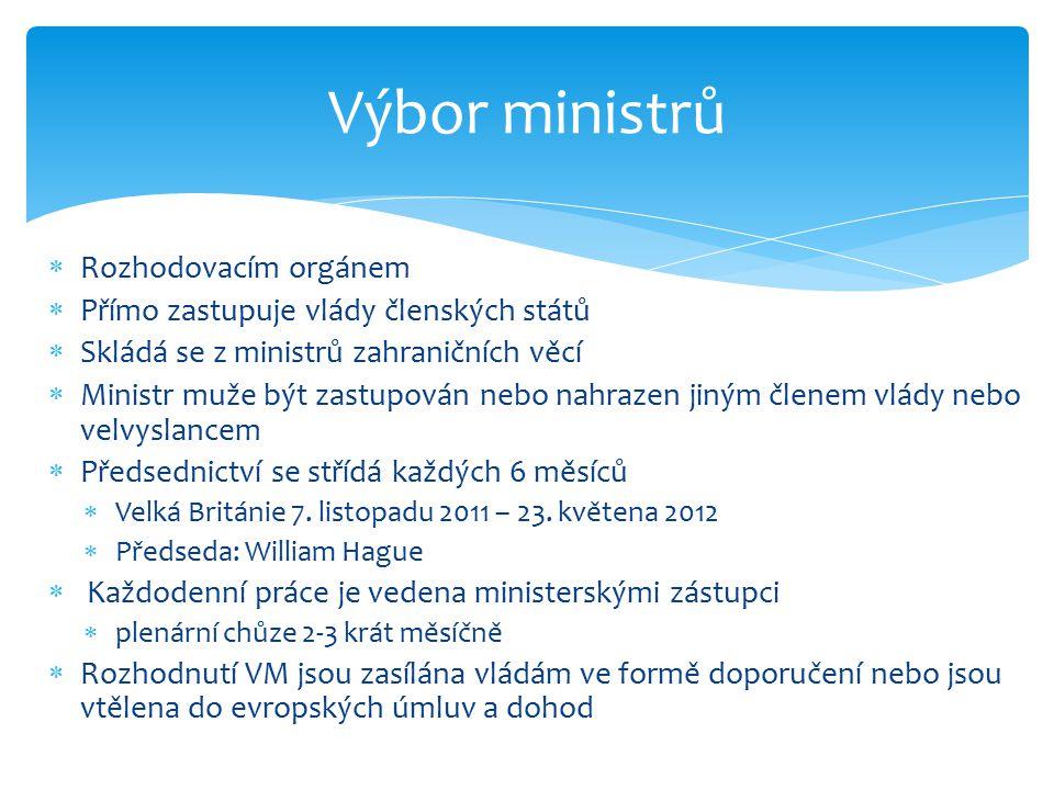 Výbor ministrů Rozhodovacím orgánem