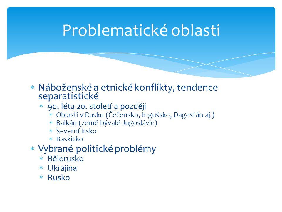 Problematické oblasti