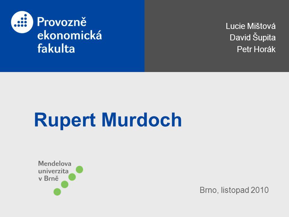 Lucie Mištová David Šupita Petr Horák