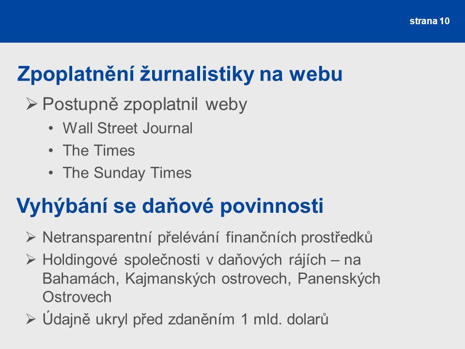 Zpoplatnění žurnalistiky na webu