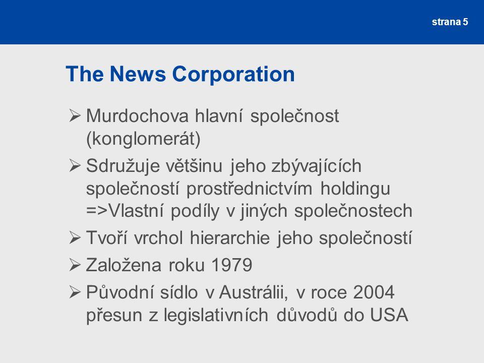 The News Corporation Murdochova hlavní společnost (konglomerát)