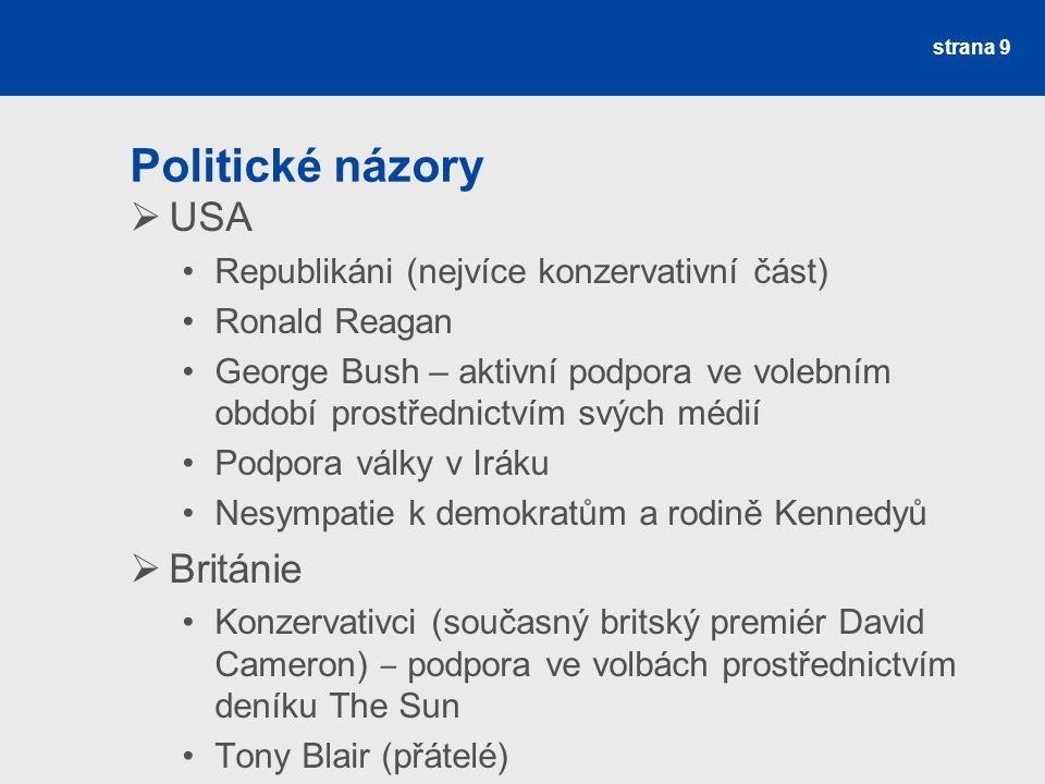 Politické názory USA Británie Republikáni (nejvíce konzervativní část)