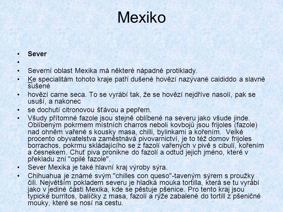 Mexiko Sever Severní oblast Mexika má některé nápadné protiklady.