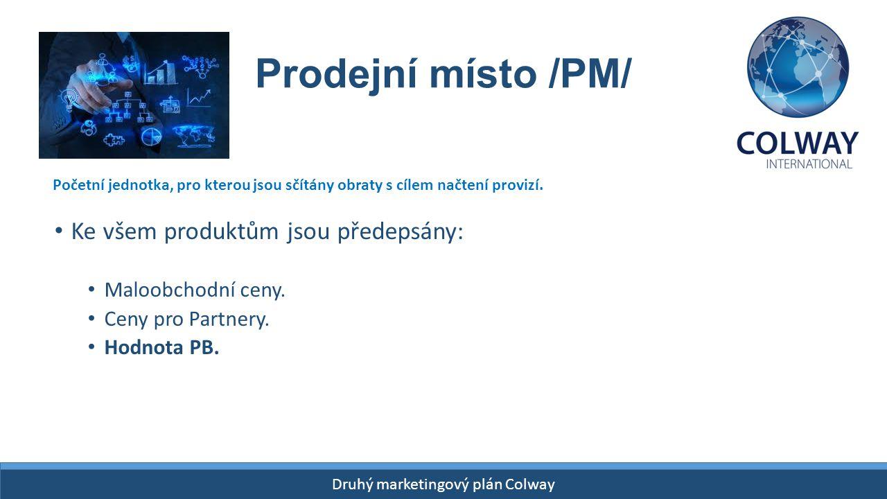 Prodejní místo /PM/ Ke všem produktům jsou předepsány: