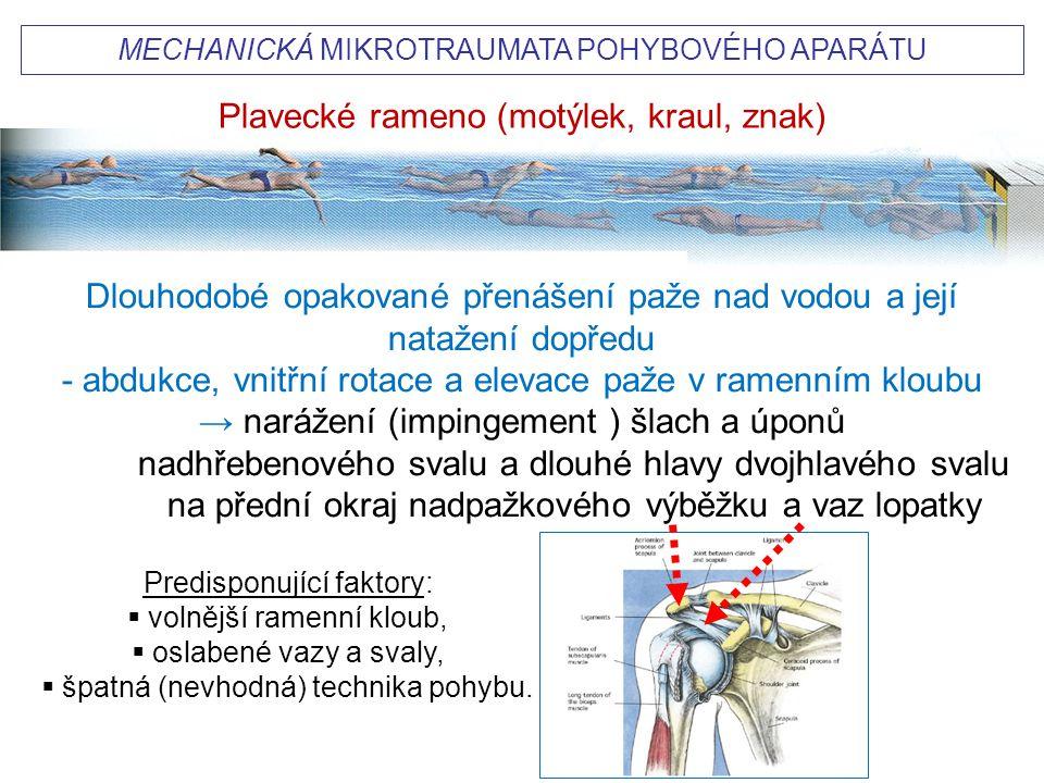 Plavecké rameno (motýlek, kraul, znak)