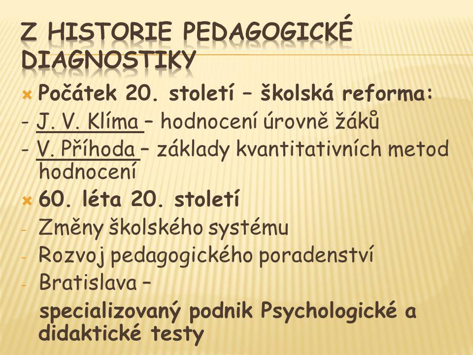 Z historie pedagogické diagnostiky