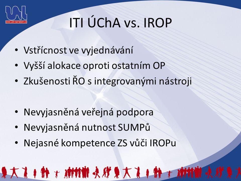 ITI ÚChA vs. IROP Vstřícnost ve vyjednávání