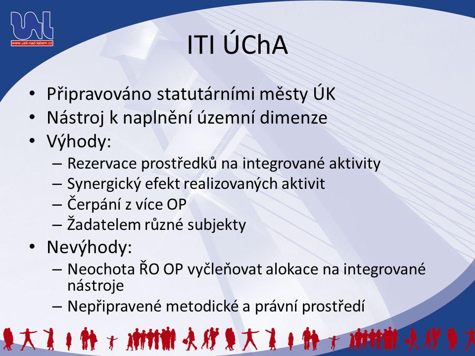 ITI ÚChA Připravováno statutárními městy ÚK