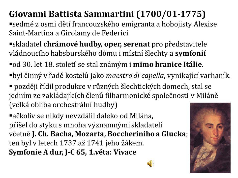 Giovanni Battista Sammartini (1700/01-1775)