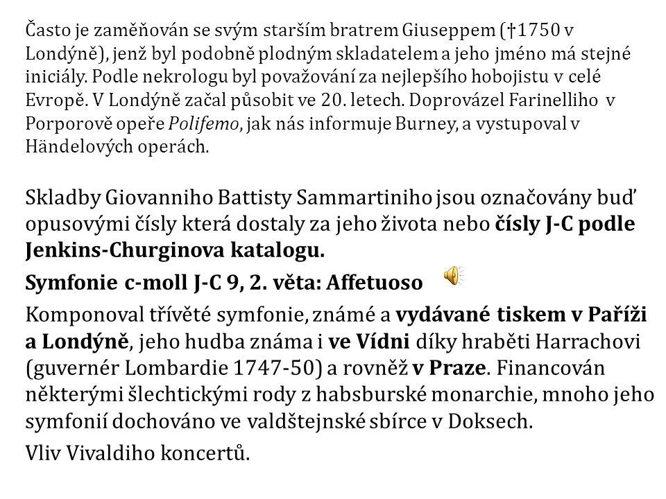 Symfonie c-moll J-C 9, 2. věta: Affetuoso