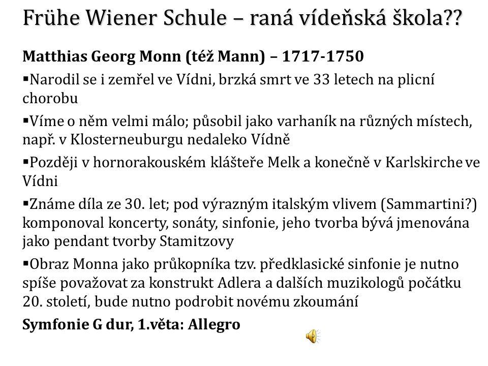 Frühe Wiener Schule – raná vídeňská škola